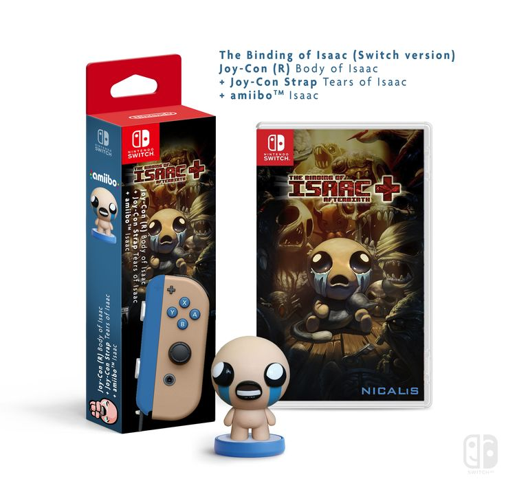 Joy-Con R The Binding of Isaac + game, Nintendo Joy-Con Collector Nintendo Switch (A Switch Me fan art). If U like it, follow me on Twitter : @switchmelike ! joycon, nintendo switch, dock, joy-con, Joy-Con Strap, amiibo