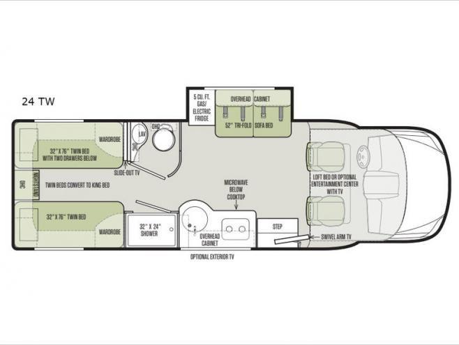 New 2019 Tiffin Motorhomes Wayfarer 24 Tw Motor Home Class C