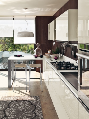 LiberaMente by #Scavolini. Continuous top for breakfast table. #kitchen