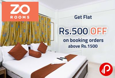 ZoRooms offers Flat Rs.500 off on booking orders above Rs.1500. Valid Till 15-11-2015. Coupon Code – ZORO5  http://www.paisebachaoindia.com/get-flat-rs-500-off-on-booking-orders-above-rs-1500-zorooms/