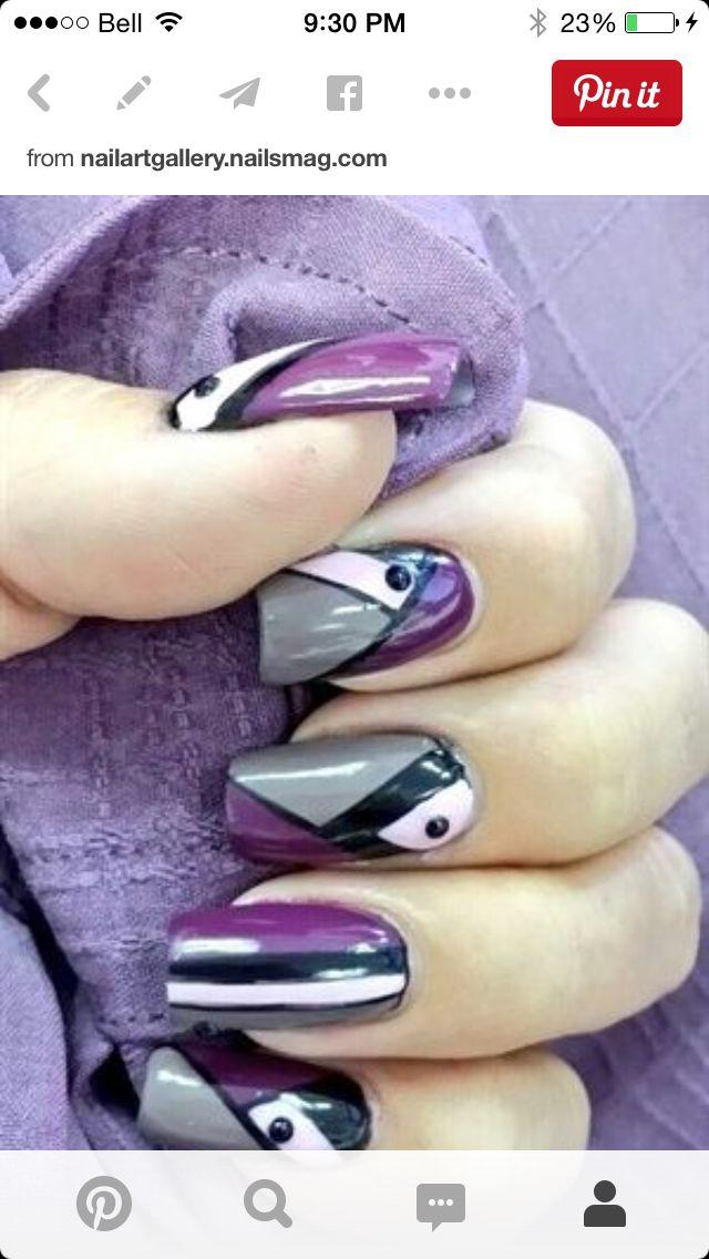 Pretty purple and gray surprise