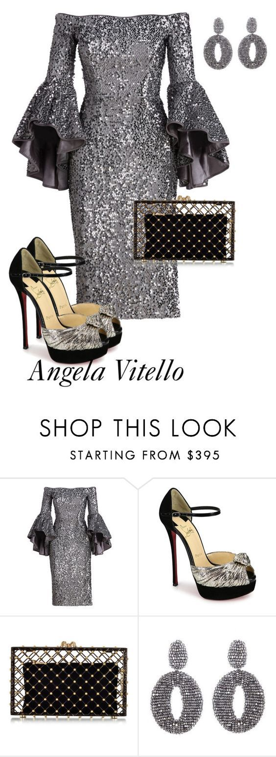 """""""Untitled #835"""" by angela-vitello on Polyvore featuring Milly, Christian Louboutin, Charlotte Olympia and Oscar de la Renta"""
