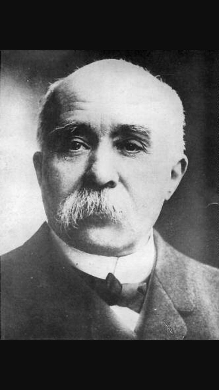 George Clemenceau, rappresentante della Francia nella conferenza della pace.