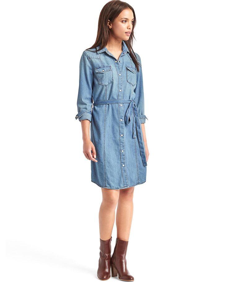Vestido vaquero de mujer Gap estilo camisero