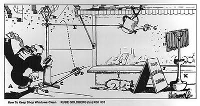 Rube Goldberg - How to Keep Shop Windows Clean