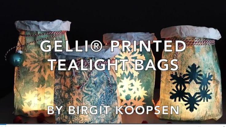 Gelli® Printed Tealight Bags