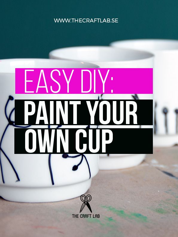 If I had known how easy it was to do, I would have done it much earlier. A permanent marker and a cup. That´s all you need to get your own unique cup.