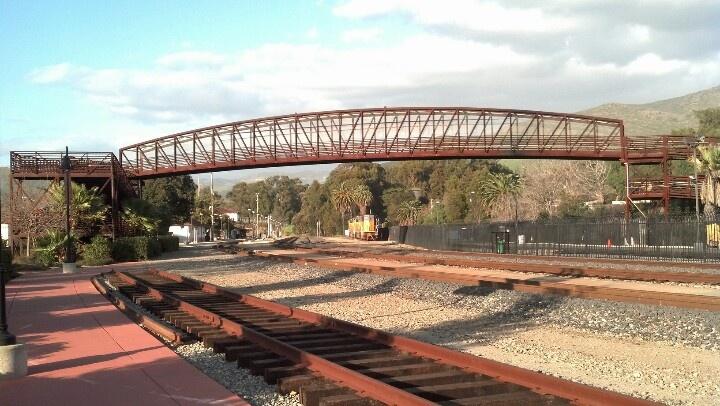 Bridge over the railroad from Jennifer St to Los Osos St , San Luis Obispo , CA