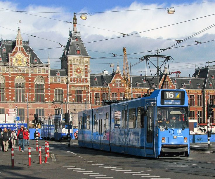 Amsterdam \\ Trolleys are a great way to get around the city.