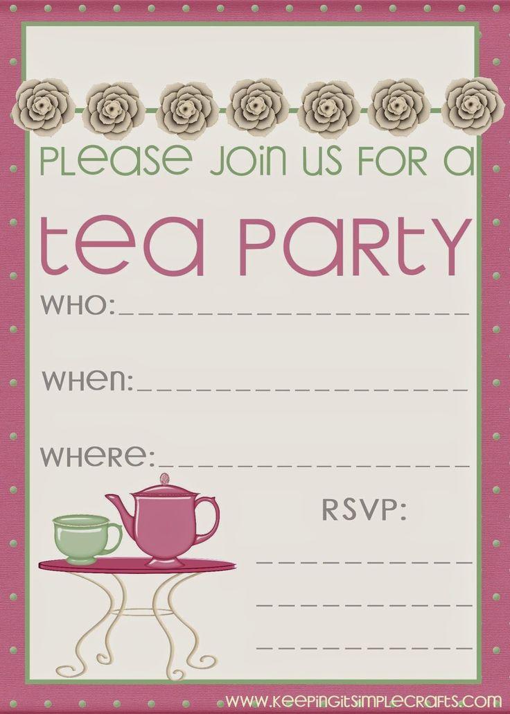 tea party invitations free - Acur.lunamedia.co