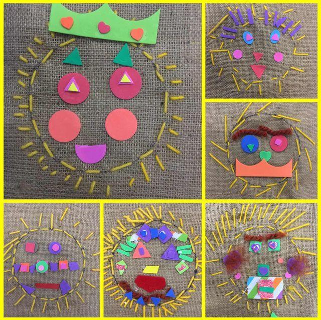 Kindergarten Sun Stitching! (Mrs  Knight's Smartest Artists)   Art
