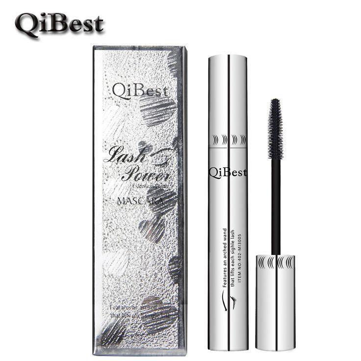 Qibest 3d czarny tusz do rzęs wodoodporny wydłużenie curling rzęs mascara rimel silikonowe kobiety profesjonalny makijaż tusz do rzęs krzaczaste
