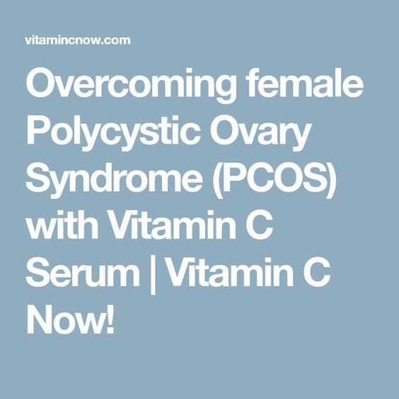 Overcoming female Polycystic Ovary Syndrome (PCOS) with Vitamin C Serum | Vitamin C Now!