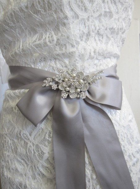 Crystal wedding broochpearl bridal by happylifeforever on Etsy, $48.00