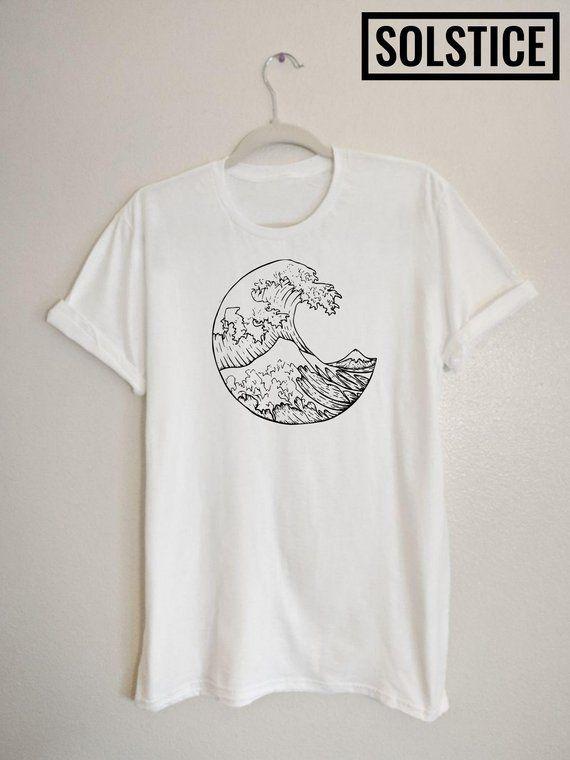 Japanese Wave T-shirt streetwear 90s clothing sadboy ...