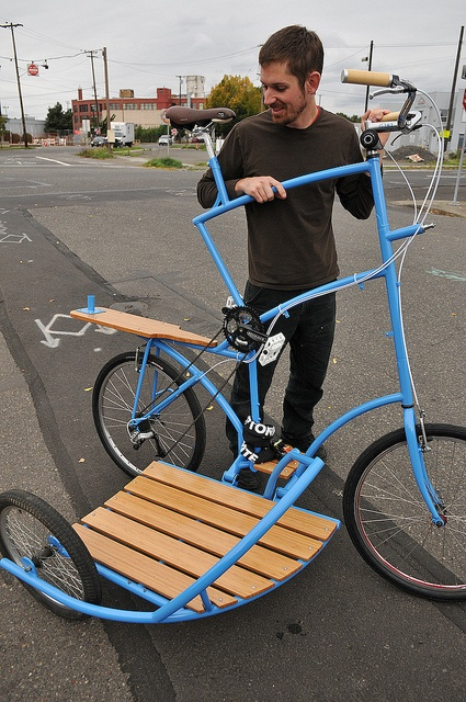 Tall Bike with side car.