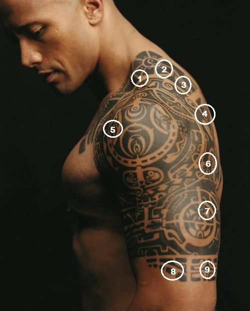 Tribal Band Tattoos For Men | Meaning of Dwayne Brown (The Rock) Body Tattoo