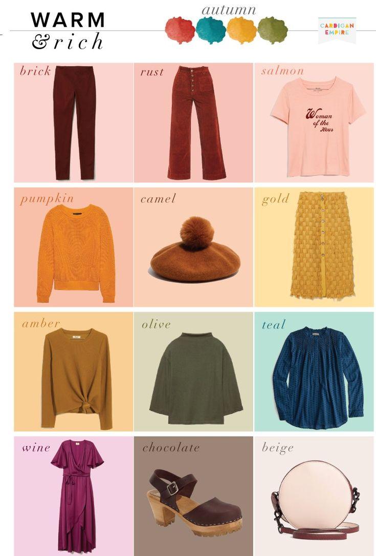 The It Fall Clothing Colors Of The Season: Autumn Capsule Wardrobe