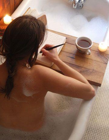 need it!: Ideas, Bath Tubs, Bath Caddy, Bathtubs, Teas, Book, Desks, Bubbles Bath, Bath Time