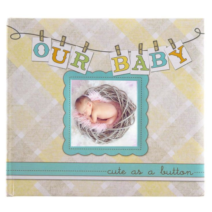 """Our Baby"" Hardcover Personalized Photo Album & Memory Book"