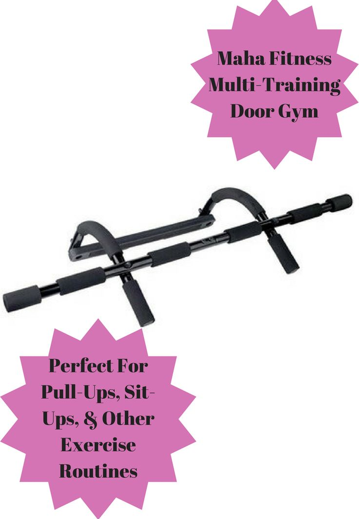 "This Maha Fitness Multi-Training Door Gym makes your doorway your workout area. Perform pull-ups, sit-ups, and other exercise routines using this portable gym system virtually anywhere a standard door frame (no more than a 32-inch gap) can be found. It is easy to assemble 20.625 inches"" W x 8.5 inches"" L x 5 inches"" D #health #fitness #exercise #door #gym #afflink"