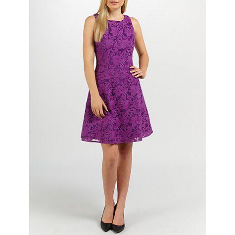 Buy Ariella Tilly Lace Short Dress, Purple Online at johnlewis.com