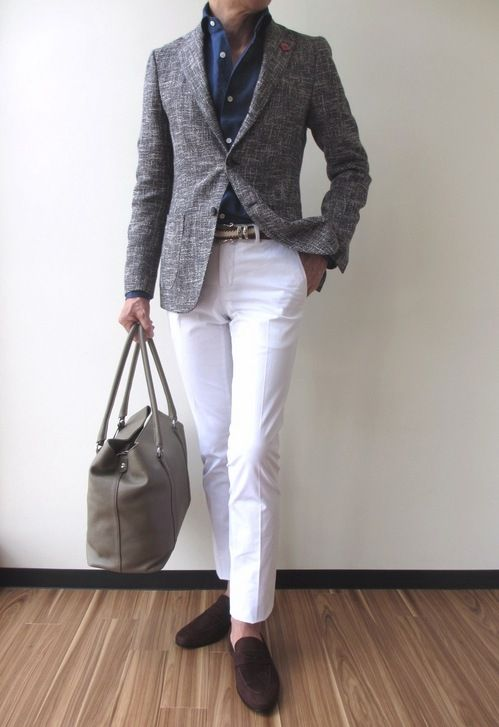LARDINI: EASY Cotton 40%/Linen 23%/Acryl 23%/Nylon 14%, Brown x Navy