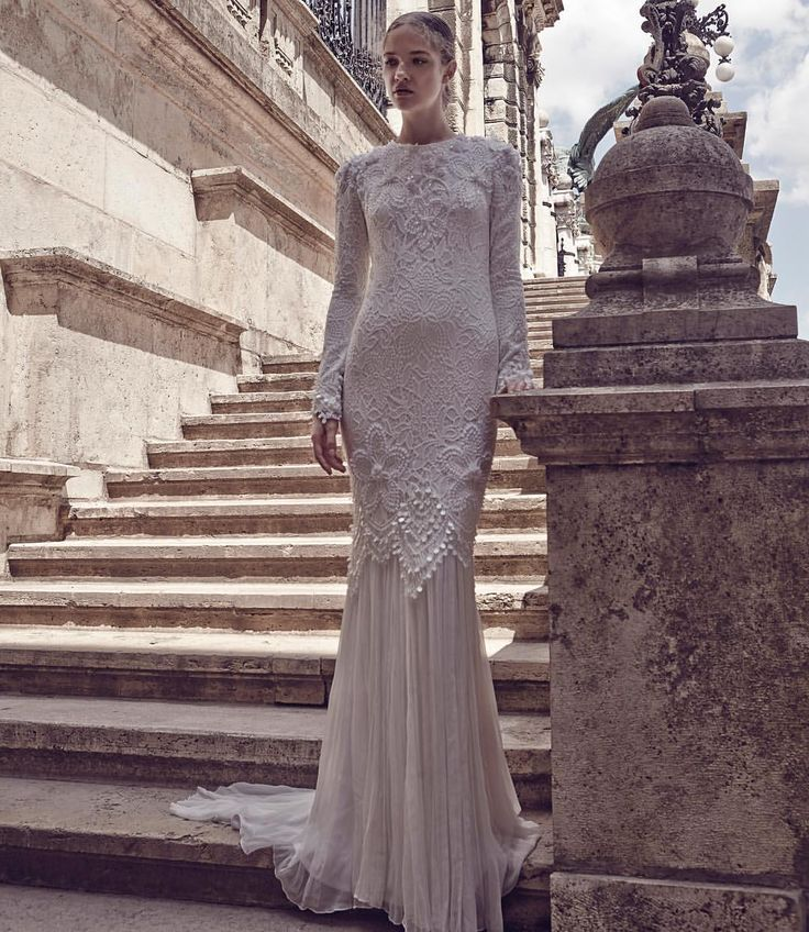 "NURITA HARITH BRIDAL - Elegant ""Carre"" for Solemnization with beautiful detail work on lace #nuritah - nuritaharith"