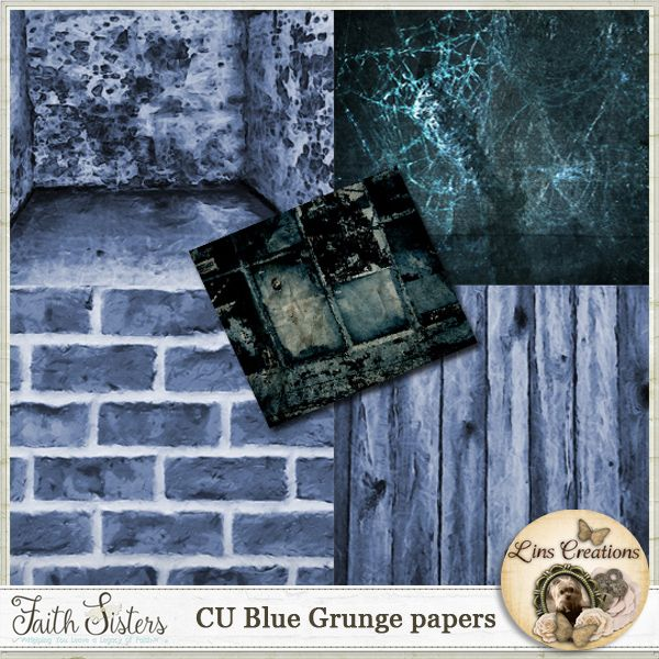 Blue Grunge papers