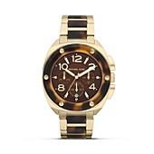 Michael Kors Ladies Gold and Tortoise Sport Watch, 43mm