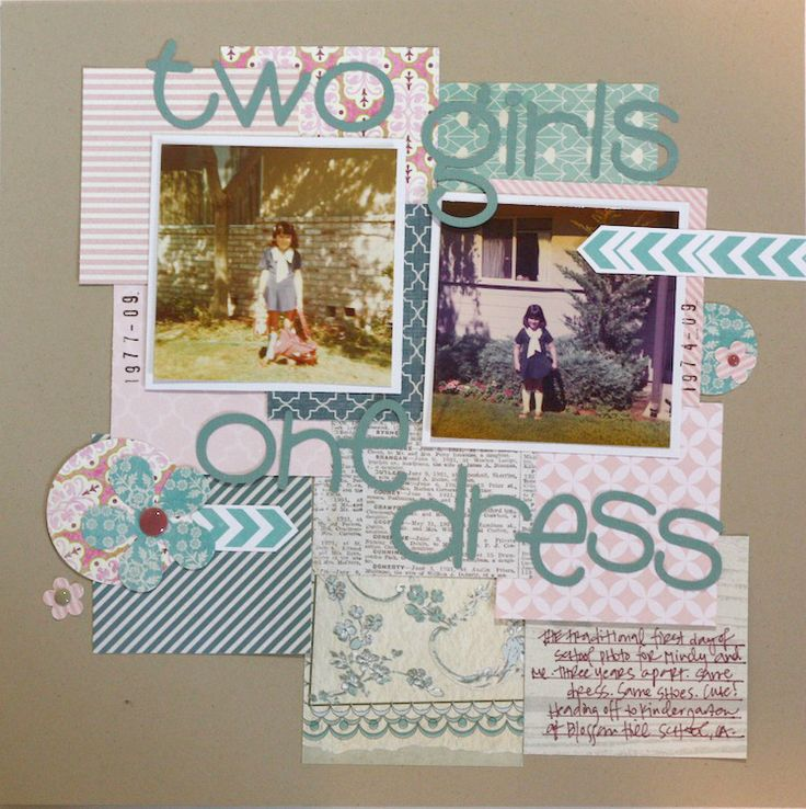scrapbooking ideas for kids. Scraplifted from Blue Star Design.