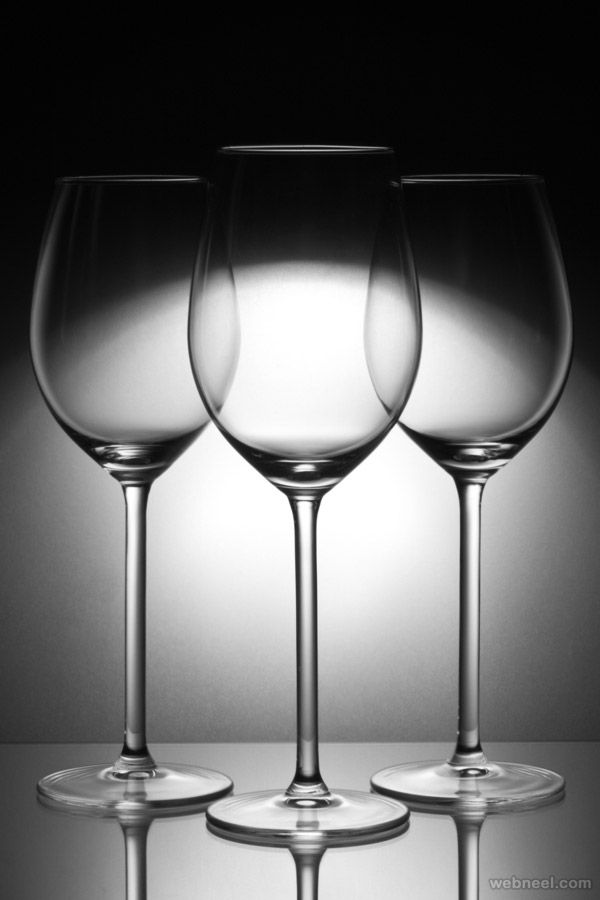 Three glasses by jan zeman bw photography 19  40 Best Black and White Photography examples from top photographers | Read full article: http://webneel.com/25-best-black-and-white-photography-examples-and-tips-beginners | more http://webneel.com/black-and-white | Follow us www.pinterest.com/webneel