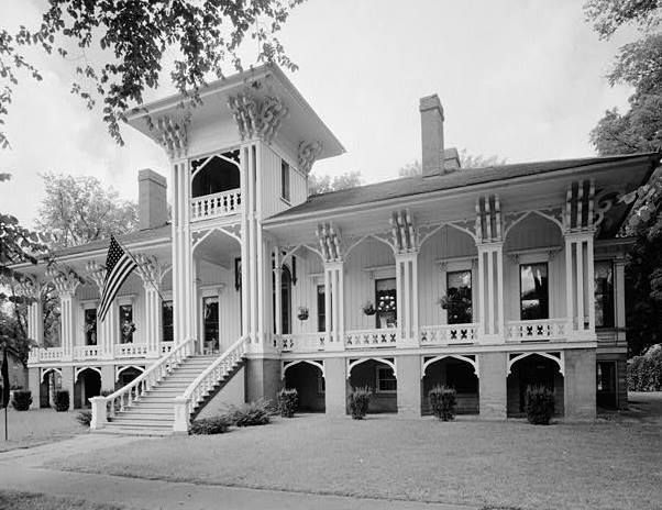 Honolulu House, Marshall -- built by an ex-ambassador to the old Kingdom of Hawaii, before the pineapple planters staged a coup and took it over; modeled on Iolani Palace, the only royal palace on American soil.