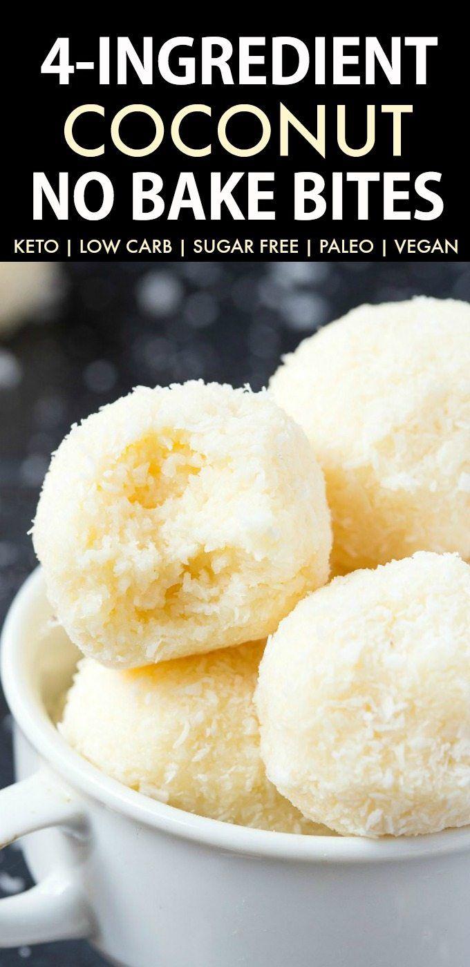 No Bake Coconut Balls Just 4 Ingredients The Big Man S World Recipe Keto Dessert Recipes Keto Dessert Easy Vegan Snacks