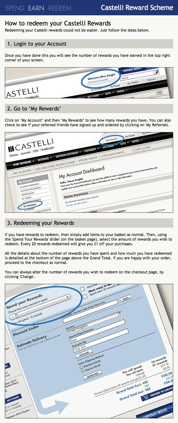 How to Redeem Rewards from @CastelliUK (by @jrtecommerce) | Showcase: www.sweettoothrewards.com/client-showcase