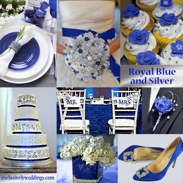 royal blue and silver wedding centerpieces%0A Royal Blue and Silver Wedding
