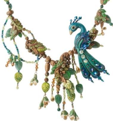 Gorgeous bead &polimer clay peacock necklace // Gyönyörű gyöngyökkel kirakott pávás nyaklánc - ékszerkészítés // Mindy - craft tutorial collection // #crafts #DIY #craftTutorial #tutorial #Beading #BeadCraft #Gyöngyfűzés