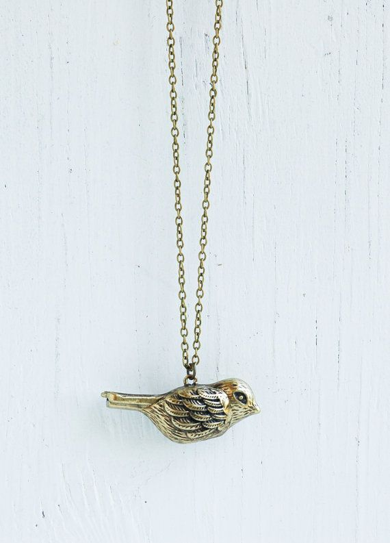 Song Bird Whistle Necklace - Vintage Style