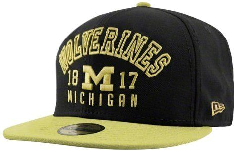 NCAA Michigan Wolverines Word Knock 5950 by New Era. $18.82. Poly. 100% Poly. This 59Fifty® Fitted Cap Features Embroidered (Raised) College Team Logos, Stitched New Era® Flag At Wearer'S Left Side,  And Team Logo On The Rear. Interior Includes Branded Taping And A Moisture Absorbing Sweatband.