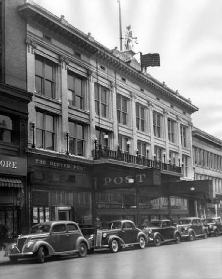 View of the Denver Post Newspaper offices in 1937