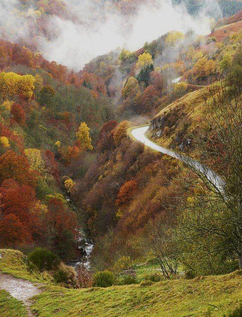 La vallée de la Santoire, Auvergne, France