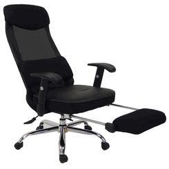 Mesh Back Reclining Office Chair w/ Footrest - $350