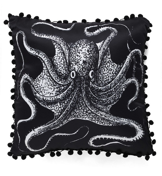 Count to Tentacle Nautical Pillow