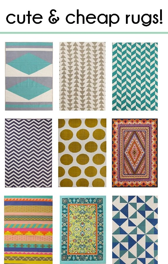 Pretty, Bold, Beautiful and Affordable Rugs!