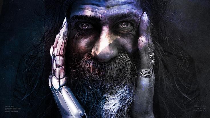 God and Man by johnprashanth88 (via Creattica)