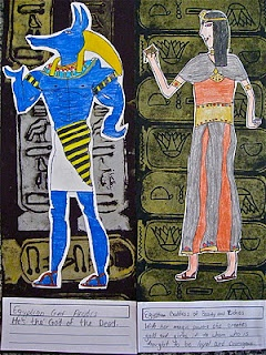 6th grade - Walk Like an Egyptian project.  Learning about human figures and Egyptian art