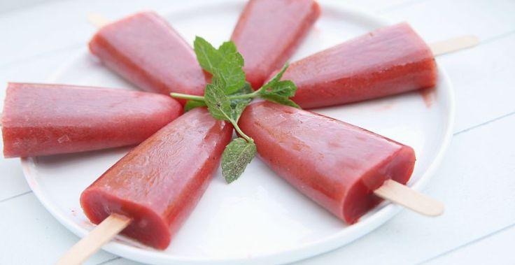 IJsjes van watermeloen aardbei en munt | Bye Bye Cheeseburger