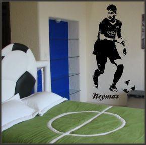 neymar football wall sticker children bedroom wall decal wall art wall art boys wall stickers football striker personalised wall art