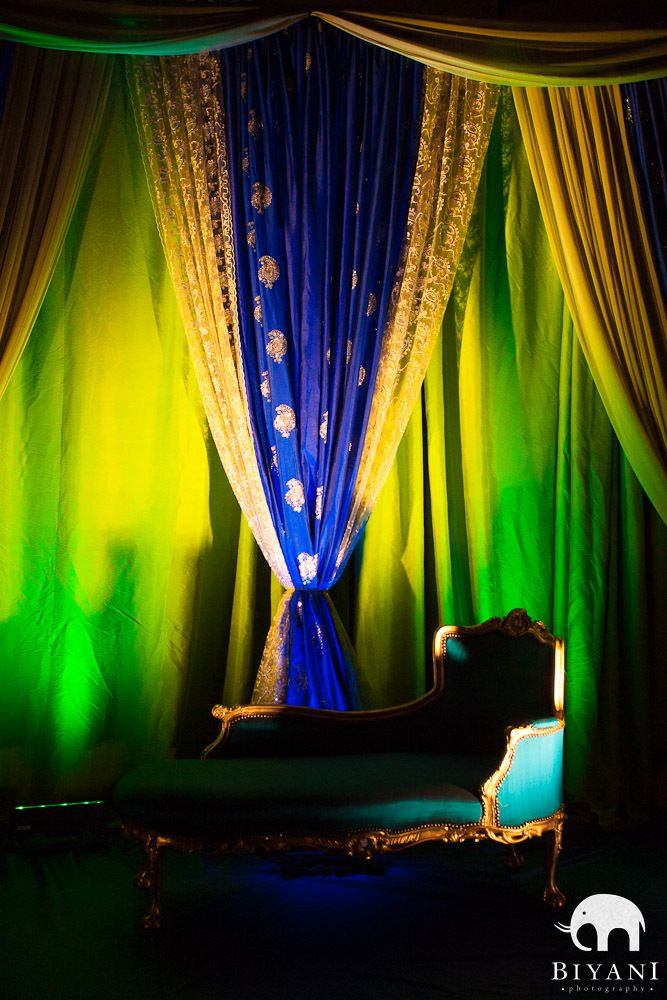 Mehndi Backdrop Ideas : Mehndi henna peacock setting backdrop wedding