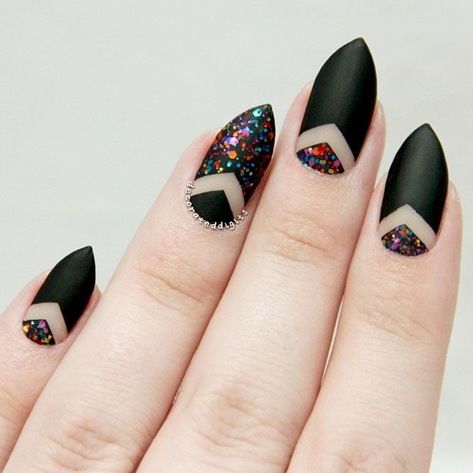 Examples Of Beautiful Long Nails To Inspire You | Negative space ...